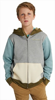 Burton Child Unisex Kid's Oak Zip Up Hoodie, M Green/Blue Slate