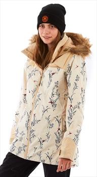 Burton Lelah Women's Ski/Snowboard Jacket, S Canvas Birds/Pebble