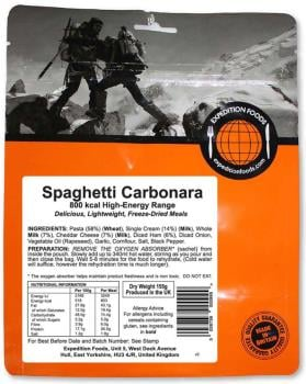 Expedition Foods Spaghetti Carbonara Camping & Hiking Meal