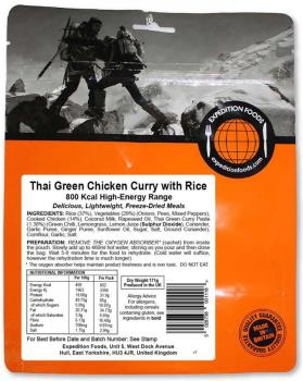 Expedition Foods Thai Green Chicken Curry + Rice Backpacking Meal