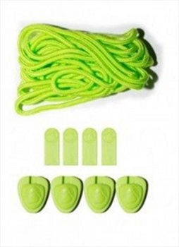 Liquid Force Lace and Lock Kit For Wakeboard Bindings, Set Of 4 Green