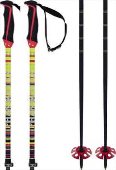Volkl Phantastick Fr Freeride Ski Poles, Adjustable Yellow/Black