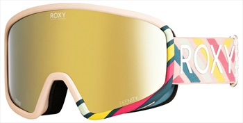 Roxy Feenity 2in1 ML Gold Women's Ski/Snowboard Goggles, M/L North Sea