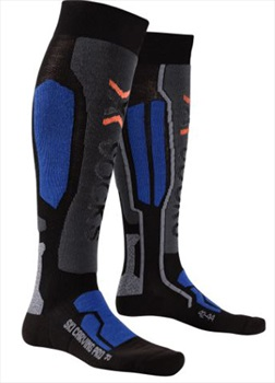 X-Bionic Ski Carving Pro Ski Socks UK 3-5.5 Black/Cobalt Blue