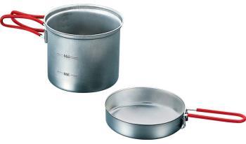 Evernew Titanium Ultralight Deep Pot Medium Camping Cookware, 900ml