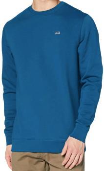 Vans Basic Crew Fleece Pullover Sweatshirt, S Moroccan Blue