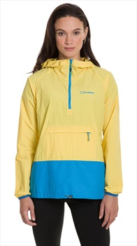 Berghaus Skerray Half Zip Women's Windproof Hiking Jacket UK 12 Yellow