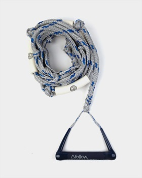Follow Surf Package Wakesurf Handle Rope Combo, 24' Grey Navy 2020