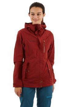 Mammut Women's Trovat Guide SO Soft Shell Hooded Jacket, UK 12 Maroon