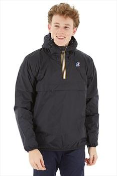 K-Way Le Vrai 3.0 Leon Padded Anorak Pull-On Jacket, S Black