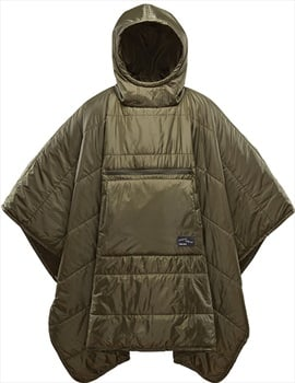 ThermaRest Honcho Poncho Hooded Thermal Camping Blanket, Olive