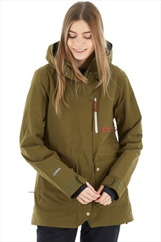 Planks All-Time Insulated Women's Ski/Snowboard Jacket, Xs Army Green