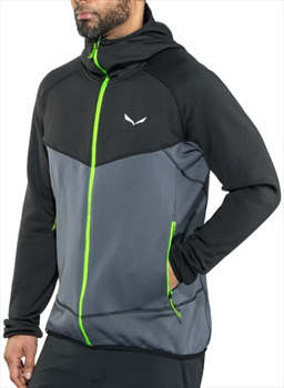 Salewa Puez Polarite Men's Technical Zip Hoodie, S Blackout