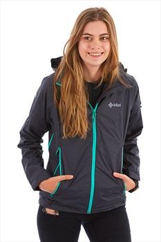 Kilpi Womens Ortler Waterproof Jacket, UK 12 Dark Grey
