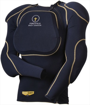Forcefield Sports Shirt L1 Body Armour With Back Protector, L Navy