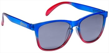 Glassy Sunhaters Deric Sunglasses Clear Blue/Red Grey Lens