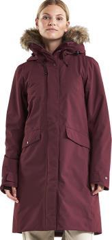 Didriksons Erika Women's Waterproof Parka Coat, UK 14 Wine Red