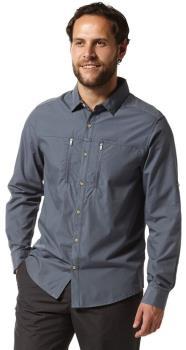 Craghoppers Kiwi Boulder Long Sleeve Shirt, S Ombre Blue