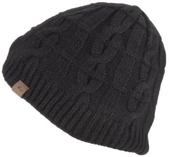 SealSkinz Waterproof Cold Weather Cable Knit Beanie, L/XL Black