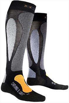 X-Bionic Ski Carving Ultralight Ski Socks, UK 6-7.5, Black/Orange