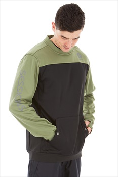Sessions Adult Unisex Roster Ski/Snowboard Technical Pullover, S Olive