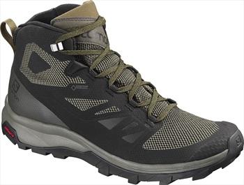 Salomon OUTline Mid GTX Gore-Tex Hiking Boots, UK 9.5 Black/Beluga