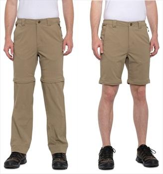 Filson Lightweight Convertible Trekking Pants/Shorts, 32 Grey Khaki