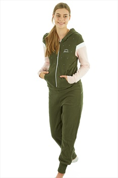 Picture Magy Women's Hooded One-piece, M Pink Dark Army Green