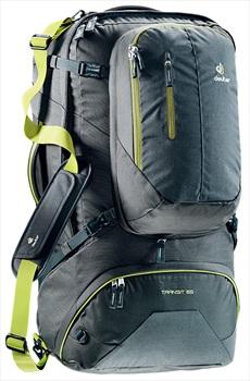 deuter Transit 65 Travel Holdall + Backpack, 65L+ Anthracite Moss