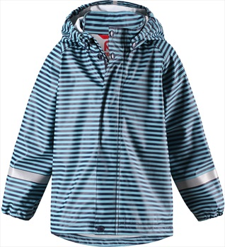 Reima Vesi Hooded Jacket Kid's Waterproof Raincoat, Age 5 Turquoise