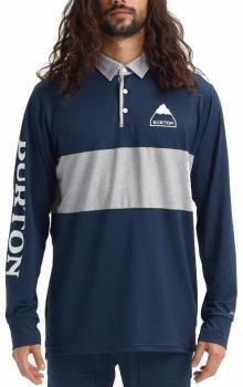 Burton Adult Unisex Midweight Rugby Shirt Technical Longsleeve, Xl Dress Blue
