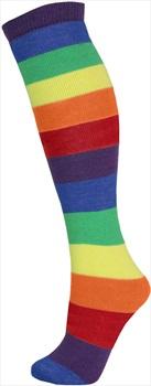 Manbi Pattern Ski/Snowboard Tube Socks, UK 4-11 Rainbow