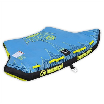 O'Brien Batwing Towable Inflatable Boat Tube, 3 Rider Blue 2020