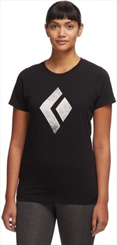 Black Diamond Chalked-Up Tee Women's Cotton T-shirt, XS Black