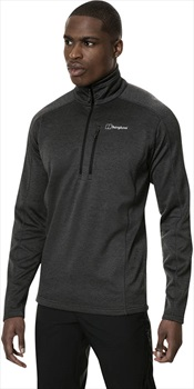 Berghaus Spitzer Half-Zip Marl Fleece Pullover, S Black/Grey
