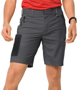 "Jack Wolfskin Active Track Softshell Hiking Shorts, 34"" Dark Iron"