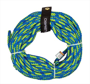 O'Brien Floating Towable Tube Rope, 2 Rider Tubes Blue Green 2021