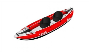 Z PRO Tango 200 Recreational Inflatable Kayak, 2 Person Red 2021