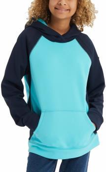 Burton Girl's Crown Bonded Pullover Hoodie, M Dress Blue/Curaca