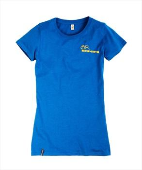 DMM Logo Climb Now Work Later Women's Climbing T-Shirt, UK 16 Blue