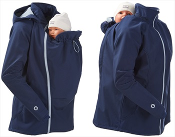 Mamalila Softshell Baby Wearing Maternity Jacket/Coat, UK 16 Navy Ice
