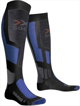 X-Bionic Snowboarding Socks UK 3-5.5 Anthracite/Azure