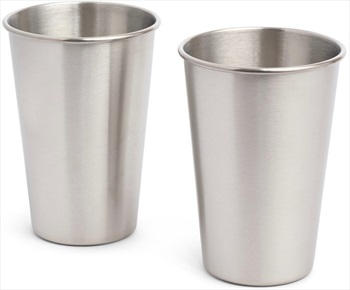 Elephant Box 500ml Stainless Steel Cup Durable Cup Set, 2 x 600ml