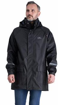 Five Seasons Noli Men's PU Long Waterproof Jacket, M Black