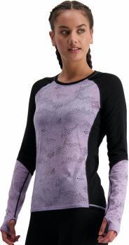 Mons Royale Bella Tech Long Sleeve Women's Merino Top, UK 14 Lilac