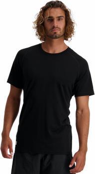 Mons Royale Adult Unisex Temple Tech T Men's Merino Wool T-Shirt, L Black
