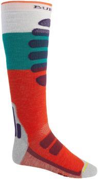 Burton Adult Unisex Performance+ Midweight Merino Ski/Snowboard Socks, L Orangeade