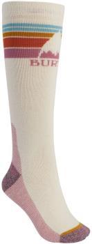 Burton Womens Emblem Midweight Women's Ski/Snowboard Socks, M/L Creme Brulee