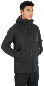 Mammut Kento Hooded Waterproof Hardshell Jacket, S Black