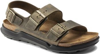 Birkenstock Adult Unisex Milano Ct Oiled Leather Sandal, Uk 8 Faded Khaki
